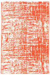 Dash And Albert Drybrush Cotton Orange Area Rug