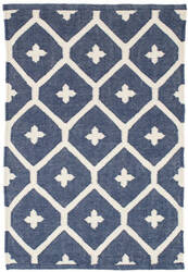 Dash And Albert Elizabeth Indoor-Outdoor Navy Area Rug
