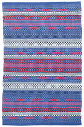 Dash And Albert Fiesta Stripe Indoor - Outdoor Blue-Red Area Rug