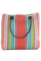 Dash and Albert Garden 60366 Stripe Woven Cotton Tote Bag