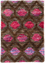 Dash And Albert Gem Knotted Pink Area Rug