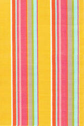 Dash And Albert Happy 72662 Yellow Stripe Area Rug
