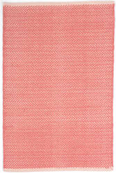 Dash And Albert Herringbone Geometric Coral Area Rug
