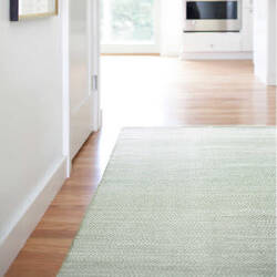 Dash And Albert Herringbone 105512 Ocean Area Rug