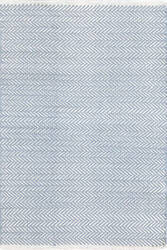 Dash And Albert Herringbone 105515 Swedish Blue Area Rug