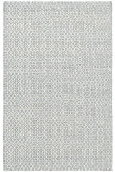 Dash And Albert Geometric Honeycomb French Blue - Ivory Area Rug