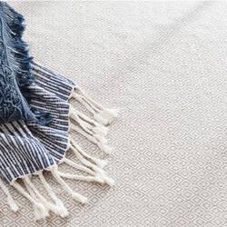 Dash And Albert Lattice Cotton Dove Grey Area Rug