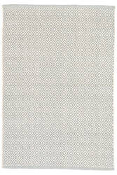 Dash And Albert Lattice Cotton Sky Area Rug