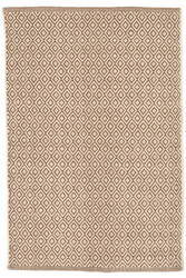 Dash And Albert Lattice Cotton Stone Area Rug
