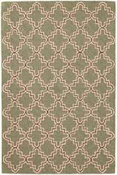 Dash And Albert Plain Tin Micro Hooked Basil Area Rug