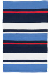 Dash And Albert Regatta Stripe Indoor - Outdoor  Area Rug
