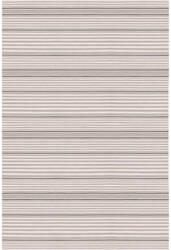 Dash And Albert Rugby Stripe Indoor-Outdoor Platinum Area Rug