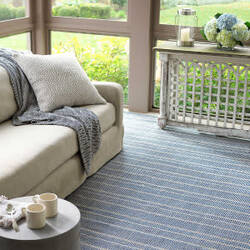 Dash And Albert Samson Indoor-Outdoor Navy Area Rug