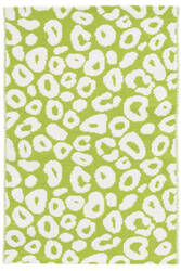 Dash And Albert Spot Cotton Green Area Rug