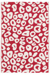 Dash And Albert Spot Cotton Red Area Rug