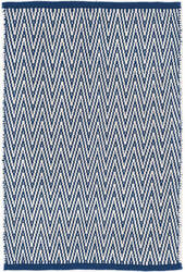 Dash And Albert Streeter Indoor-Outdoor Blue Area Rug