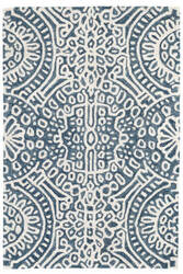 Dash And Albert Temple Wool Ink Area Rug
