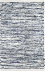 Dash And Albert Tideline Indoor-Outdoor Navy Area Rug