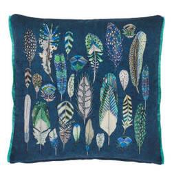 Designers Guild Quill Pillow 176105 Cobalt