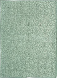Due Process Aubusson + Cutpile Lattice Sea Foam Area Rug