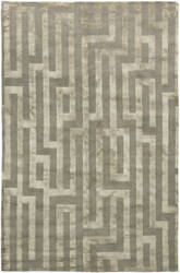 Due Process Adaptations Maze Platinum Area Rug