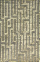 Due Process Adaptations Maze Silver Area Rug