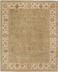 Due Process Amritsar Agra Light Green - Ivory Area Rug