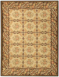 Due Process Aubusson Avignon Gold - Dark Brown Area Rug
