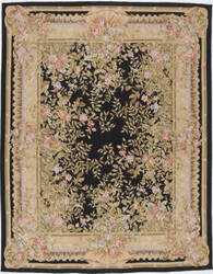 Due Process Aubusson Marseilles Black Area Rug