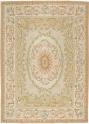 Due Process Aubusson Caen Light Green Area Rug