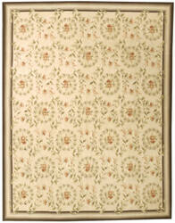 Due Process Aubusson Rouen Ivorn - Denim Area Rug
