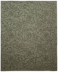 Due Process Barbara Barry Collection Brayton Floral Steel Area Rug