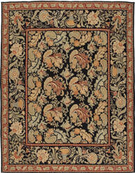 Due Process Bessarabian Surrey Black Area Rug