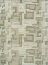 Due Process Elemental Natural Block Frost Area Rug