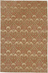 Due Process Empress Arts And Crafts Terra Cotta Area Rug
