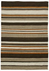 Due Process Flatweave Flatline Orange - Brown Area Rug