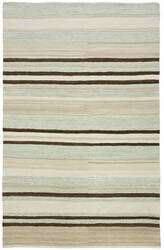 Due Process Flatweave Flatline Sky - Tan Area Rug