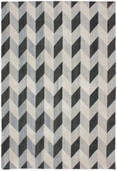 Due Process Flatweave Herringbone Black - Coffee Area Rug