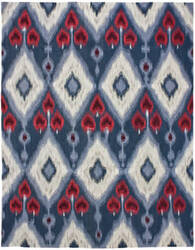 Due Process Flatweave Ikat Iv Blue Area Rug