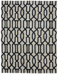 Due Process Flatweave Lattice Work Black - White Area Rug