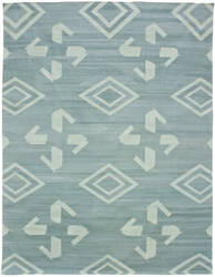 Due Process Flatweave Waltz Of Arabian Sea Foam Area Rug