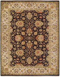 Due Process Jagapatti Agra Charcoal - Cream Area Rug
