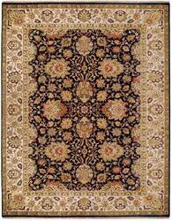 Due Process Jagapatti Agra Charcoal-Cream Area Rug