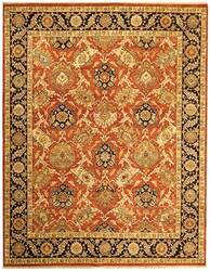 Due Process Jagapatti Bakshaish Rust-Navy Area Rug
