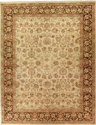 Due Process Jagapatti Mahal Cream-Mocha Area Rug
