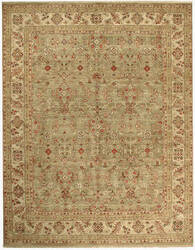 Due Process Jagapatti Ferrahan Light Green - Cream Area Rug