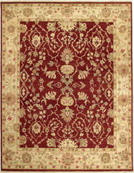 Due Process Jagapatti Lilihan Garnet - Soft Gold Area Rug