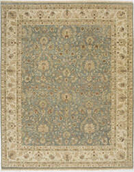 Due Process Jagapatti Nain Light Blue - Ivory Area Rug