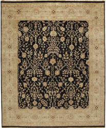 Due Process Jagapatti Sarouk Black - Gold Area Rug