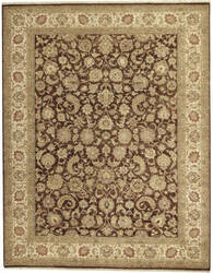 Due Process Jagapatti Yezd Brown - Cream Area Rug